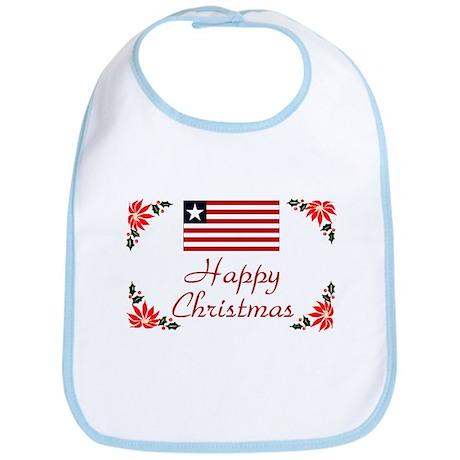 Liberia Happy Christmas Bib
