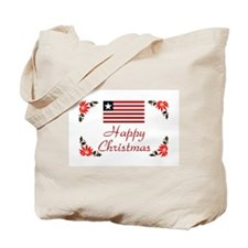 Liberia Happy Christmas Tote Bag