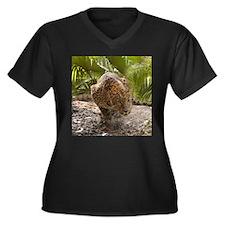 Cheetaro The Leopard Women's Plus Size V-Neck Dark