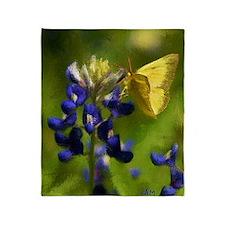 butterflyonbluebonnetbrightBIG Throw Blanket