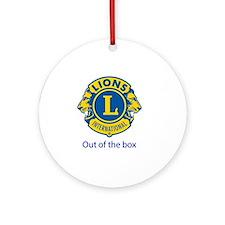 lions international Round Ornament