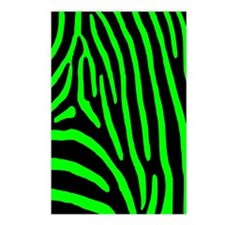 Lime Zebra Stripes Postcards (Package of 8)