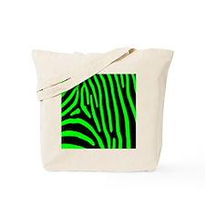 Lime Zebra Stripes Tote Bag