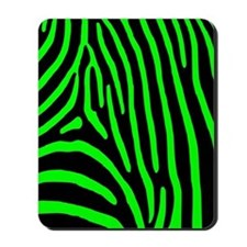 Lime Zebra Stripes Mousepad