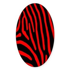 Red Zebra Stripes Decal