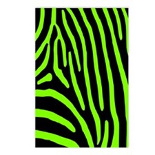 Chartreuse Zebra Stripes Postcards (Package of 8)