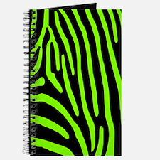 Chartreuse Zebra Stripes Journal