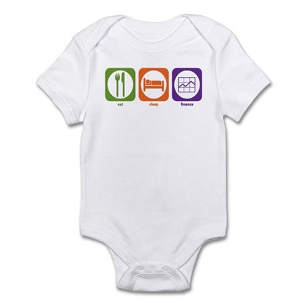 CafePress Eat Sleep Finance Infant Bodysuit