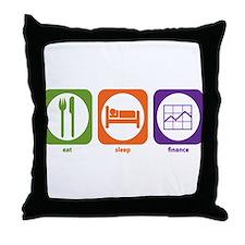 Eat Sleep Finance Throw Pillow