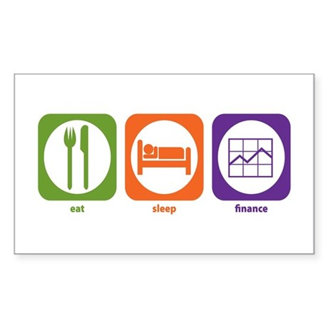 Eat Sleep Finance Rectangle Sticker