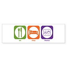 Eat Sleep Finance Bumper Bumper Sticker