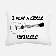 Little Ukulele Rectangular Canvas Pillow