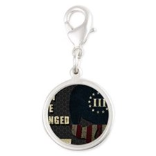 Shall Not Be Infringed - Hex Silver Round Charm