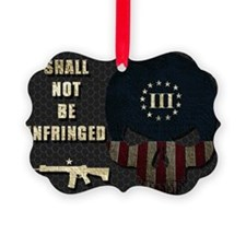Shall Not Be Infringed - Hex Ornament