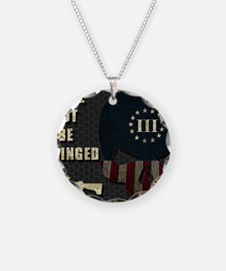 Shall Not Be Infringed - Hex Necklace Circle Charm