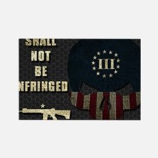 Shall Not Be Infringed - Hex Rectangle Magnet
