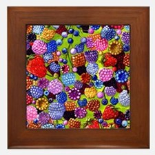 all the berries in the kitchen Framed Tile