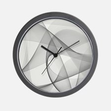 fractal silver Wall Clock