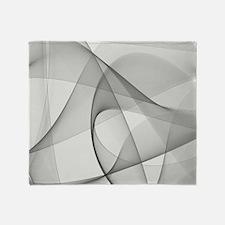 fractal silver Throw Blanket