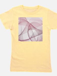 fractal white burgundy Girl's Tee