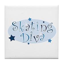 """""""Skating Diva"""" [blue] Tile Coaster"""