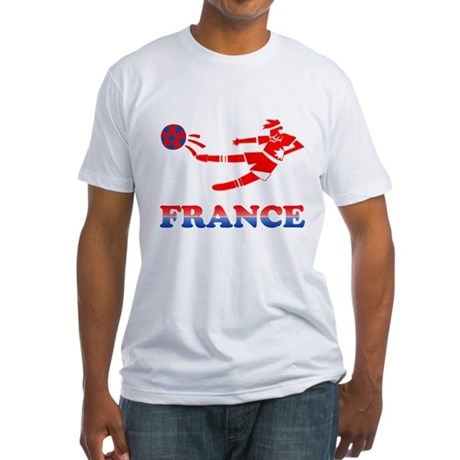 French Soccer Player Fitted T-Shirt