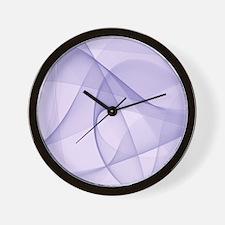 fractal purple Wall Clock