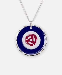 Retro Mod Target with 45 rpm Necklace
