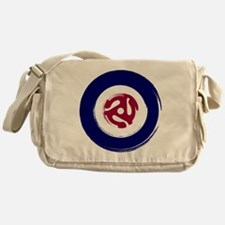 Retro Mod Target with 45 rpm adaptor Messenger Bag
