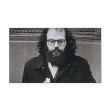 Allen Ginsberg. Rectangle Car Magnet