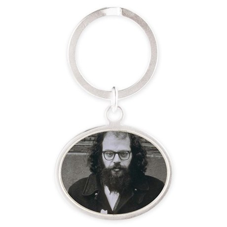 Allen Ginsberg. Oval Keychain