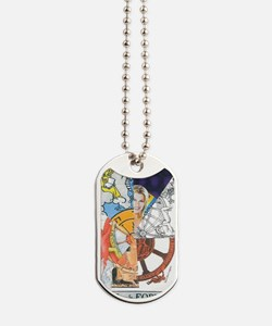 Wheel of Fortune Tarot Dog Tags
