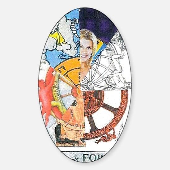 Wheel of Fortune Tarot Sticker (Oval)