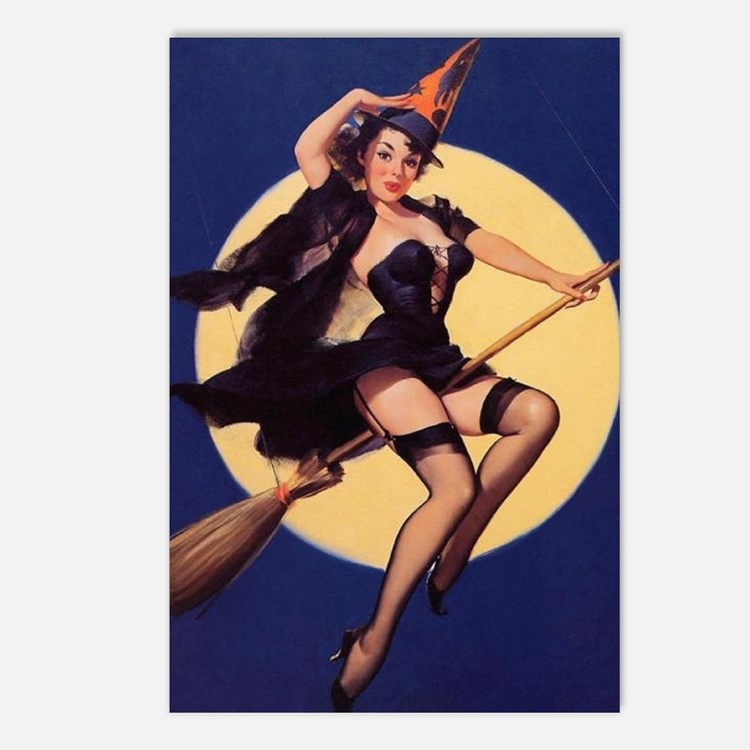 Windy Witch Postcards (Package of 8)