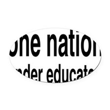 educatedrectangle Oval Car Magnet