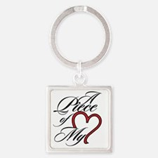 A Piece of My Heart Square Keychain