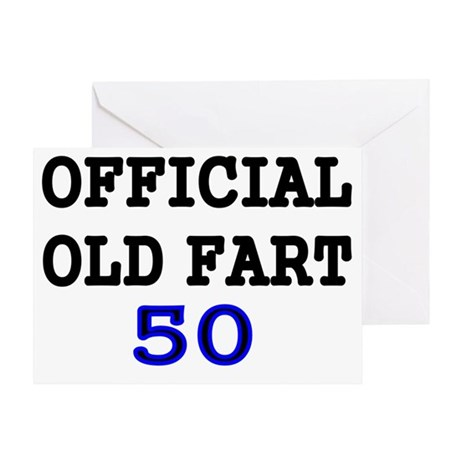 OFFICIAL OLD FART 50 Greeting Card