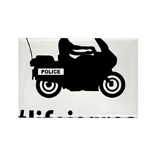 Highway-Patrol-Police-06-A Rectangle Magnet