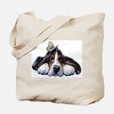 Unique Basset hound Tote Bag