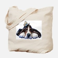 Cute Basset hound dog Tote Bag