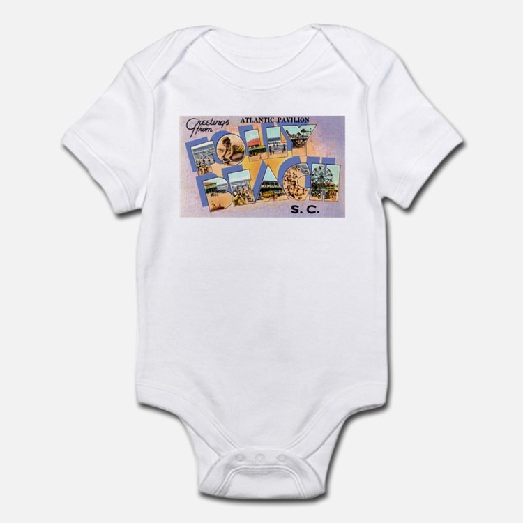 Folly Beach South Carolina Infant Bodysuit