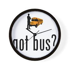 School-Bus-Driver-02-A Wall Clock