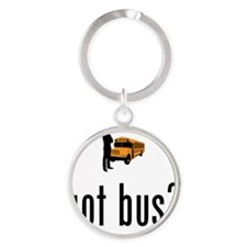 School-Bus-Driver-02-A Round Keychain