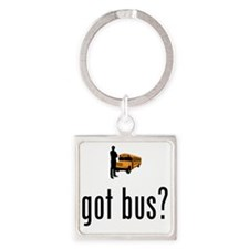 School-Bus-Driver-02-A Square Keychain