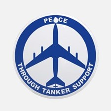 KC-135A - Peace Through Tanker Supp Round Ornament