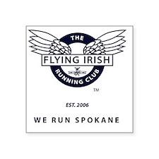 """Flying Irish Square Sticker 3"""" x 3"""""""