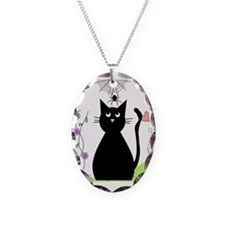 cat and spider shower curtain  Necklace