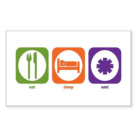 Eat Sleep EMT Rectangle Sticker