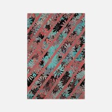 Pretty Flower Art Pattern Rectangle Magnet