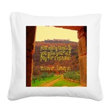 Its over, let it go Square Canvas Pillow